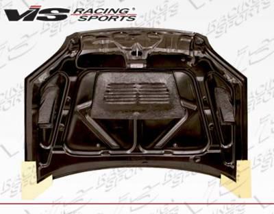 VIS Racing - Carbon Fiber Hood EVO  Style for Honda Civic 2DR & 4DR 01-03 - Image 4