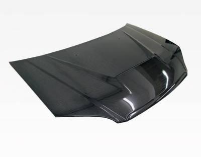 VIS Racing - Carbon Fiber Hood Invader Style for Honda Civic 2DR & 4DR 01-03 - Image 2