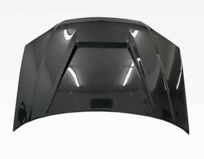 VIS Racing - Carbon Fiber Hood Invader Style for Honda Civic 2DR & 4DR 01-03 - Image 3
