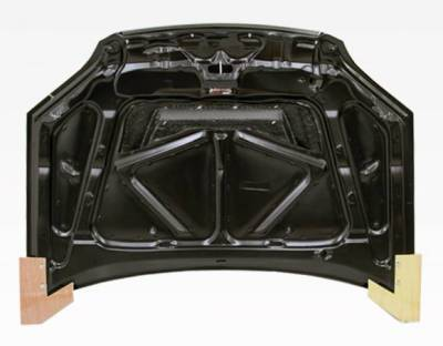 VIS Racing - Carbon Fiber Hood Invader Style for Honda Civic 2DR & 4DR 01-03 - Image 4