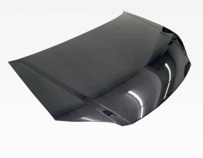 VIS Racing - Carbon Fiber Hood OEM Style for Honda Civic 2DR & 4DR 01-03 - Image 2