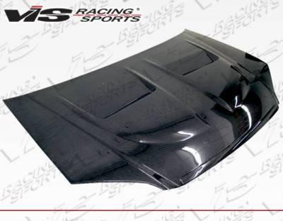 VIS Racing - Carbon Fiber Hood Xtreme GT Style for Honda Civic 2DR & 4DR 01-03 - Image 3
