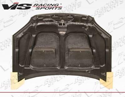 VIS Racing - Carbon Fiber Hood Xtreme GT Style for Honda Civic 2DR & 4DR 01-03 - Image 4