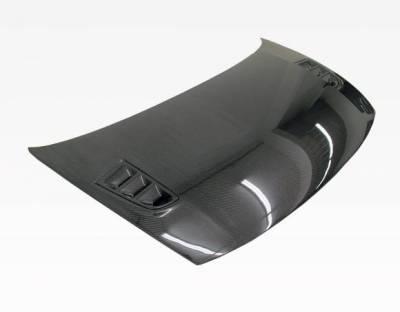 VIS Racing - Carbon Fiber Hood RR Style for Honda Civic 2DR 06-11 - Image 2