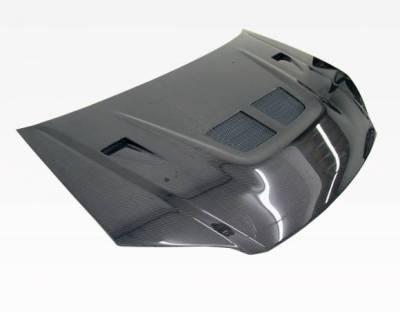 VIS Racing - Carbon Fiber Hood EVO  Style for Honda Civic 2DR & 4DR 04-05 - Image 2