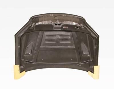 VIS Racing - Carbon Fiber Hood EVO  Style for Honda Civic 2DR & 4DR 04-05 - Image 4