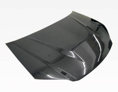 VIS Racing - Carbon Fiber Hood Invader Style for Honda Civic 2DR & 4DR 04-05 - Image 2