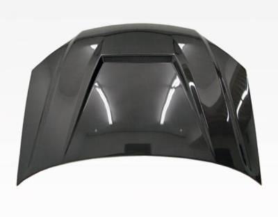 VIS Racing - Carbon Fiber Hood Invader Style for Honda Civic 2DR & 4DR 04-05 - Image 3
