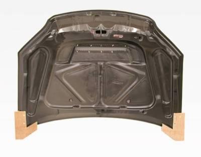 VIS Racing - Carbon Fiber Hood Invader Style for Honda Civic 2DR & 4DR 04-05 - Image 4