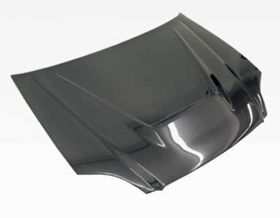 VIS Racing - Carbon Fiber Hood Invader Style for Honda Civic 2DR & 4DR 99-00 - Image 1