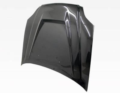 VIS Racing - Carbon Fiber Hood Invader Style for Honda Civic 2DR & 4DR 99-00 - Image 3