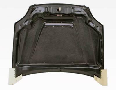 VIS Racing - Carbon Fiber Hood Invader Style for Honda Civic 2DR & 4DR 99-00 - Image 4