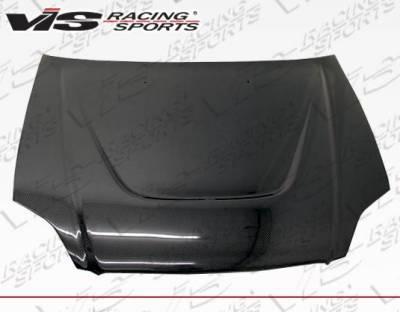 VIS Racing - Carbon Fiber Hood JS Style for Honda Civic 2DR & 4DR 99-00 - Image 2