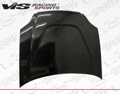 VIS Racing - Carbon Fiber Hood JS Style for Honda Civic 2DR & 4DR 99-00 - Image 3