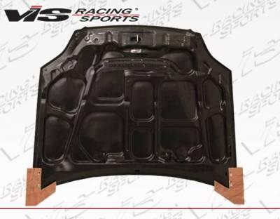 VIS Racing - Carbon Fiber Hood JS Style for Honda Civic 2DR & 4DR 99-00 - Image 5