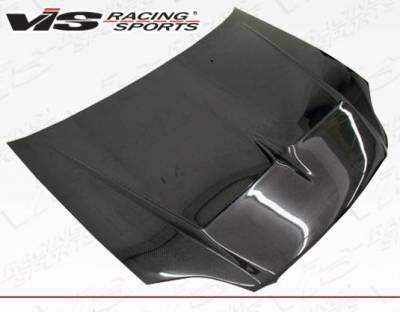 VIS Racing - Carbon Fiber Hood Monster Style for Honda Civic 2DR & 4DR 99-00 - Image 2