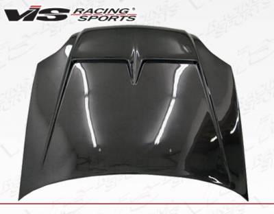 VIS Racing - Carbon Fiber Hood Monster Style for Honda Civic 2DR & 4DR 99-00 - Image 3