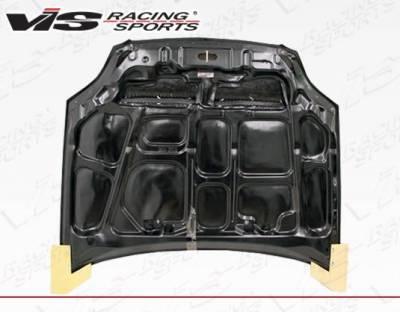VIS Racing - Carbon Fiber Hood Monster Style for Honda Civic 2DR & 4DR 99-00 - Image 4