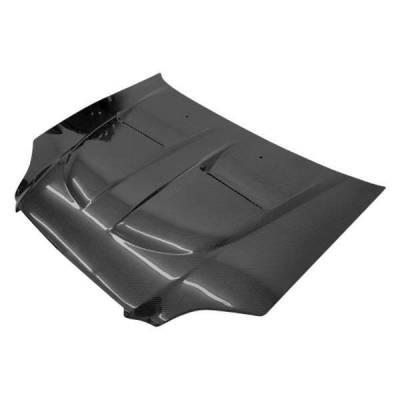 VIS Racing - Carbon Fiber Hood Xtreme GT Style for Honda Civic 2DR & 4DR 99-00 - Image 1