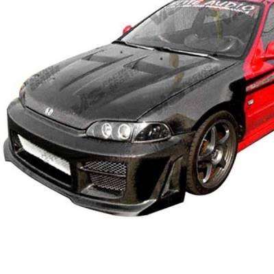 VIS Racing - Carbon Fiber Hood Xtreme GT Style for Honda Civic 2DR & 4DR 99-00 - Image 2