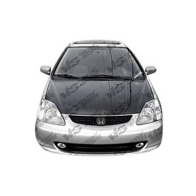 VIS Racing - Carbon Fiber Hood OEM Style for Honda Civic (Si) Hatchback 02-05 - Image 2