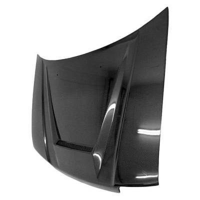 VIS Racing - Carbon Fiber Hood Invader Style for Honda CRX Hatchback 88-91 - Image 2