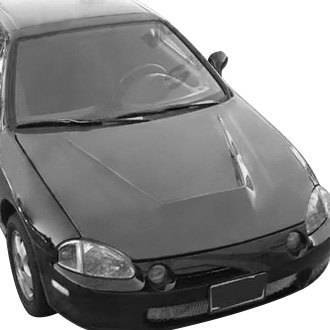 VIS Racing - Carbon Fiber Hood Invader Style for Honda CRX Hatchback 88-91 - Image 3