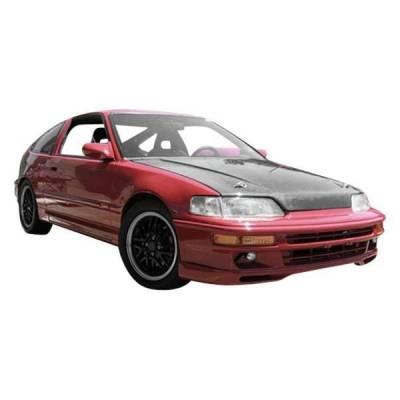 VIS Racing - Carbon Fiber Hood US (SIR) Style for Honda CRX Hatchback 88-91 - Image 1