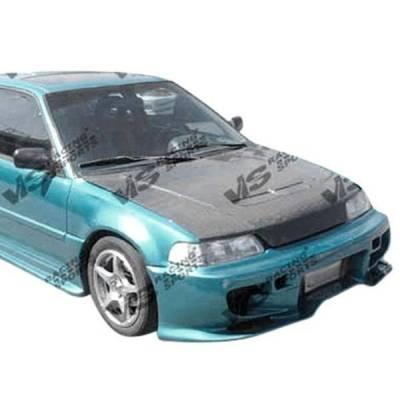 VIS Racing - Carbon Fiber Hood US (SIR) Style for Honda CRX Hatchback 88-91 - Image 2