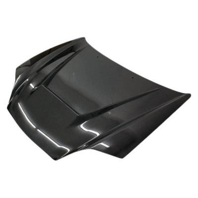 VIS Racing - Carbon Fiber Hood Invader Style for Hyundai Tiburon 2DR 03-06 - Image 1