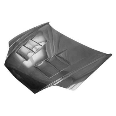 VIS Racing - Carbon Fiber Hood Terminator Style for Hyundai Tiburon 2DR 03-06 - Image 1