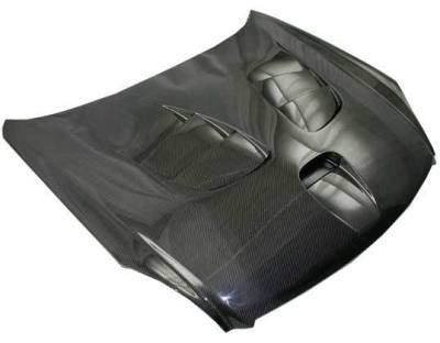 VIS Racing - Carbon Fiber Hood Fuzion Style for Infiniti G35 2DR 03-07 - Image 1