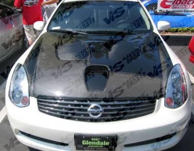 VIS Racing - Carbon Fiber Hood Fuzion Style for Infiniti G35 2DR 03-07 - Image 3