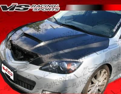 VIS Racing - Carbon Fiber Hood M Speed Style for Mazda 3 Hatchback 04-09 - Image 2