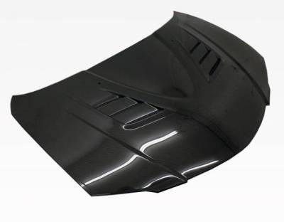 VIS Racing - Carbon Fiber Hood V Speed Style for Mazda 3 4DR 04-09 - Image 1