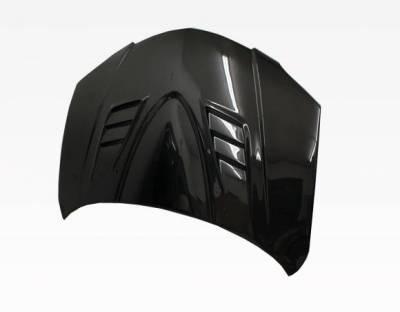 VIS Racing - Carbon Fiber Hood V Speed Style for Mazda 3 4DR 04-09 - Image 3