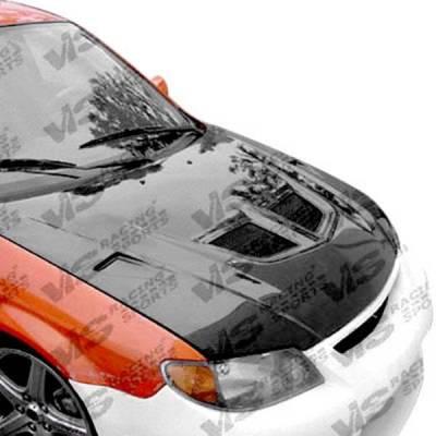 VIS Racing - Carbon Fiber Hood EVO Style for Mazda Protege 4DR 01-03 - Image 2