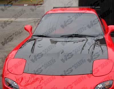 VIS Racing - Carbon Fiber Hood Invader Style for Mazda RX7 2DR 93-96 - Image 5