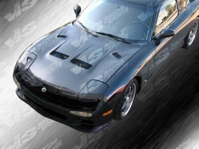 VIS Racing - Carbon Fiber Hood KS Style for Mazda RX7 2DR 93-96 - Image 4