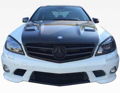 VIS Racing - Carbon Fiber Hood DTM Style for Mercedes C-Class C63 4DR 08-11 - Image 2