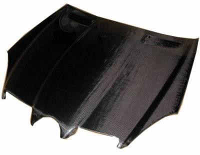 VIS Racing - Carbon Fiber Hood OEM Style for Mercedes SLK 2DR 05-10 - Image 2
