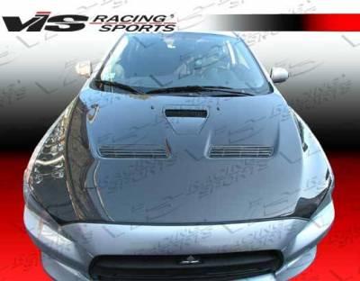 VIS Racing - Carbon Fiber Hood OEM Style for Mitsubishi EVO 10 4DR 2008-2017 - Image 2