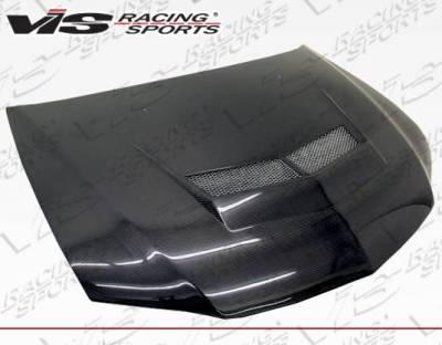 VIS Racing - Carbon Fiber Hood Invader 2 Style for Mitsubishi EVO 8 4DR 03-05 - Image 2