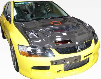 VIS Racing - Carbon Fiber Hood JC Style for Mitsubishi EVO 8 4DR 03-05 - Image 2