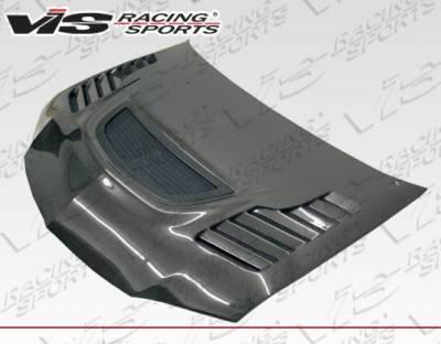 VIS Racing - Carbon Fiber Hood Tracer Style for Mitsubishi EVO 8 4DR 03-05 - Image 2