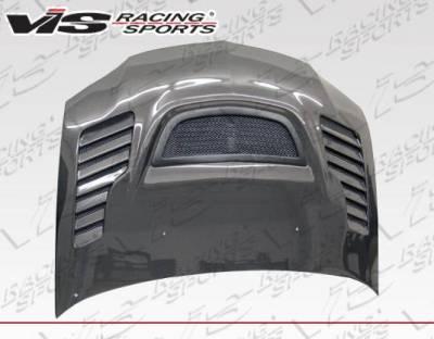 VIS Racing - Carbon Fiber Hood Tracer Style for Mitsubishi EVO 8 4DR 03-05 - Image 4