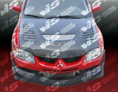 VIS Racing - Carbon Fiber Hood Tracer Style for Mitsubishi EVO 8 4DR 03-05 - Image 5