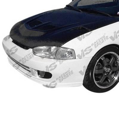 VIS Racing - Carbon Fiber Hood EVO 5 Style for Mitsubishi Mirage 2DR 97-02 - Image 1