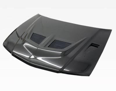VIS Racing - Carbon Fiber Hood EVO Style for Mitsubishi Mirage (JDM) W/B 4DR 97-01 - Image 2