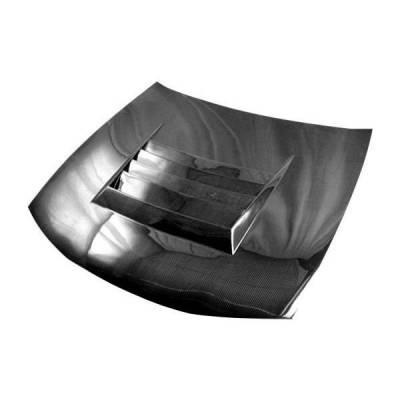 VIS Racing - Carbon Fiber Hood Drift Style for Nissan 240SX 2DR 97-98 - Image 2